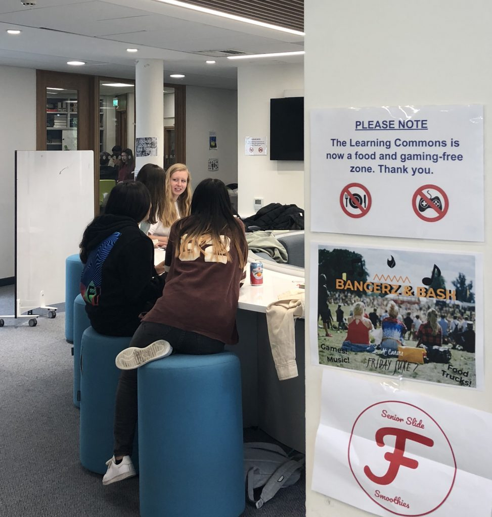 Food, gaming banned in Learning Commons to promote study environment