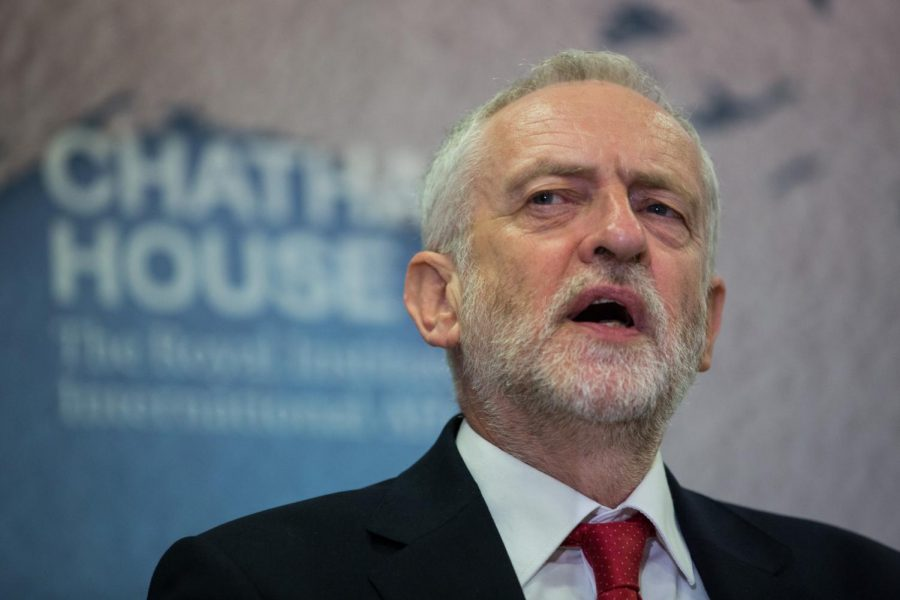 Jeremy Corbyn speaks at a forum at Chatham House. Corbyn is a self-described socialist and the leader of the Labour Party in the U.K.