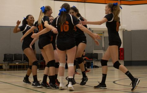 Girls Volleyball teams promote Autism Awareness during matches against Cobham