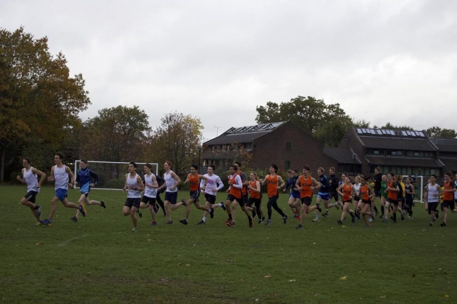 Athletes+run+after+the+gun+signals+the+start+of+the+London+School+Sports+Association+%28LSSA%29+Championship%2C+hosted+by+Cobham.