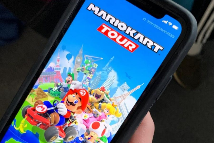 The new app version Mario Kart has taken the High School by storm. Many students place the game which replicates the classic Wii game of Super Mario Kart.