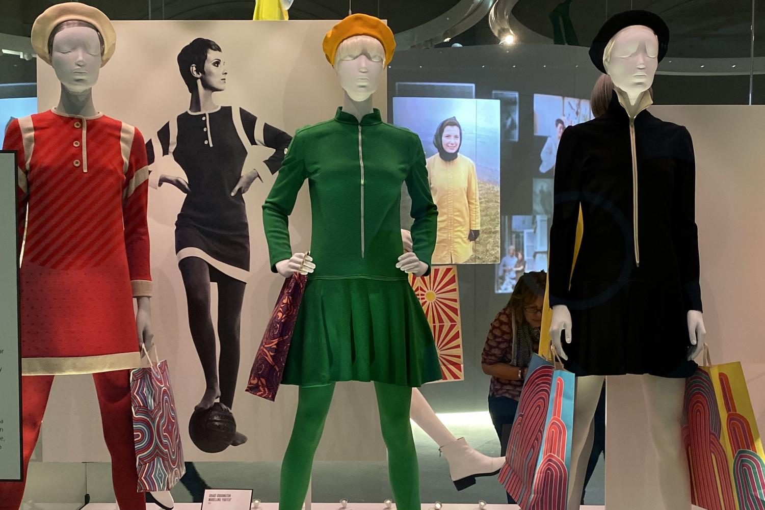 Mannequins modelling variations of the