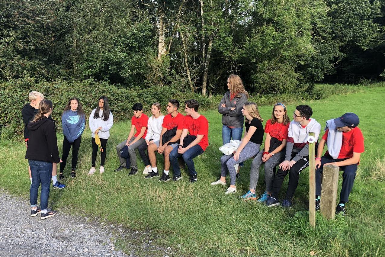The Peer Leaders gather on their retreat to the Welsh country side. The retreat took place Aug. 30 - Sep. 1, and is a tradition to allow the Peer Leaders to bond before beginning a year of class together.