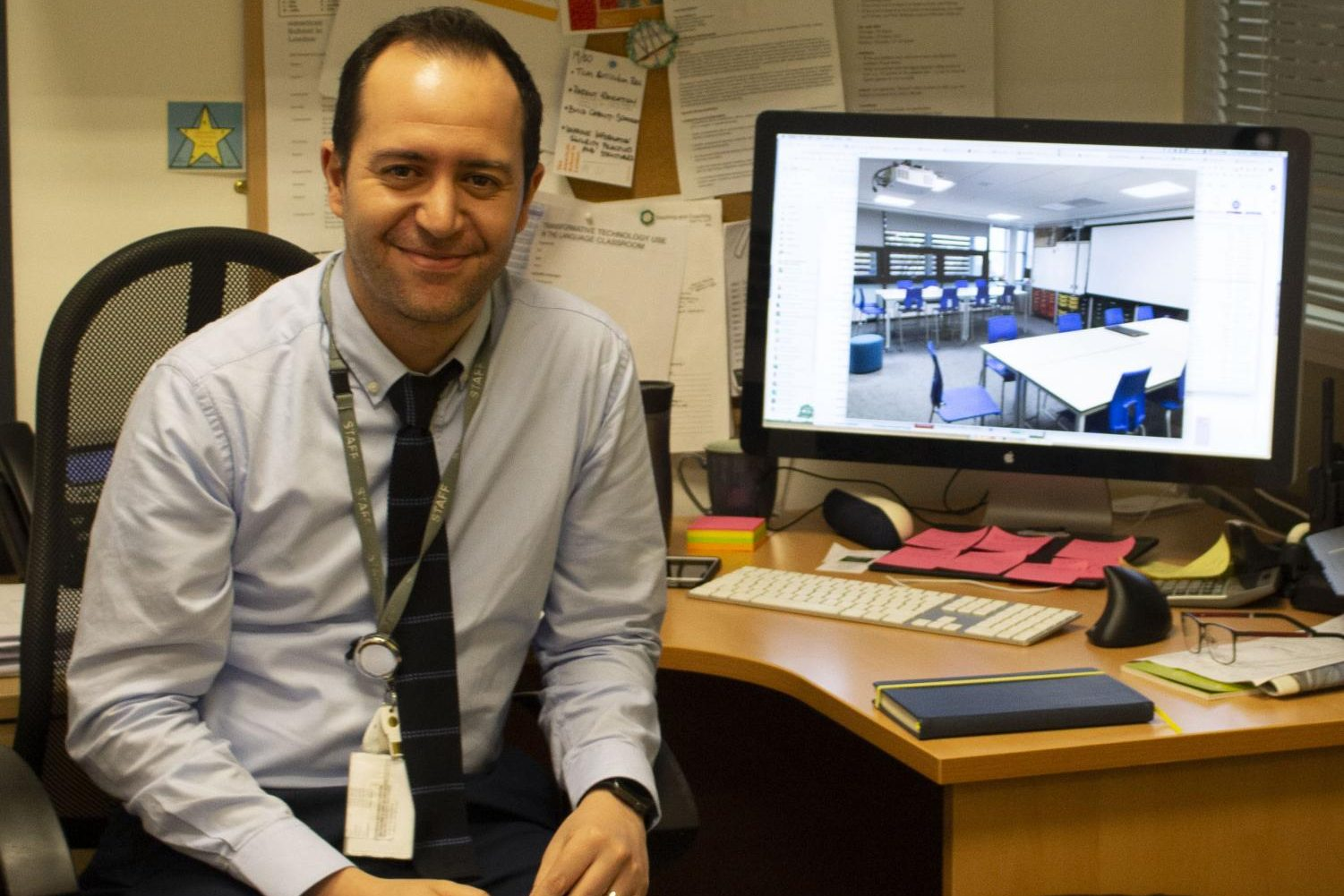 Director of Technology Nadjib Aktouf had a role in overseeing the development of technology at the school. Most recently, the change from PowerSchool Learning to Schoology was a major transition for the school that he helped organize.