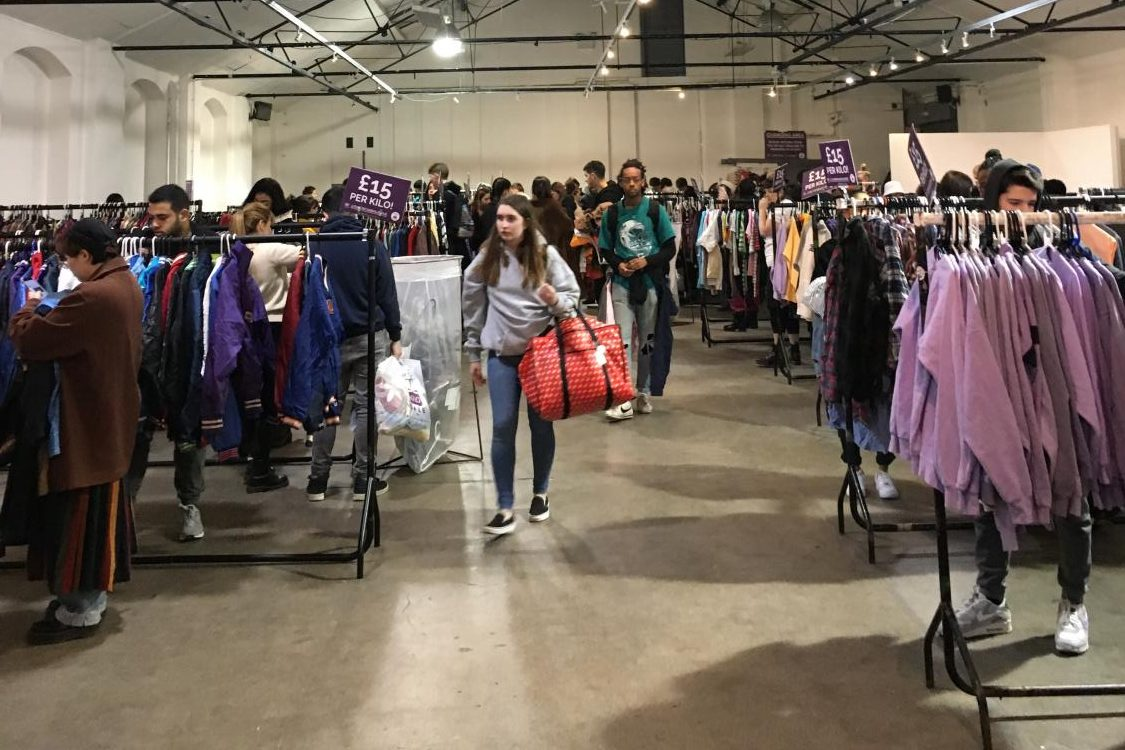 People look to buy vintage clothes at the most recent Vintage Kilo Sale Jan. 17-18. The vintage clothes are sold based on weight, causing the clothes to be super cheap. The next sale will take place on March 1.