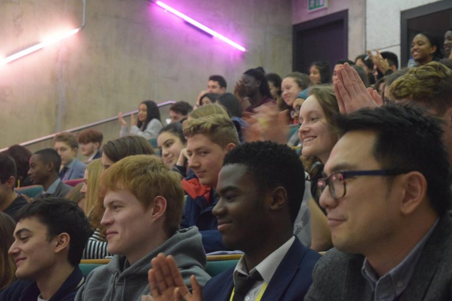 Students participate in the 2018 youngPOWER conference. The annual event is focused on social justice issues and consists of guest speakers, discussions and workshops. Over 100 students from eight London schools will participate in the 2020 youngPOWER conference March 6.