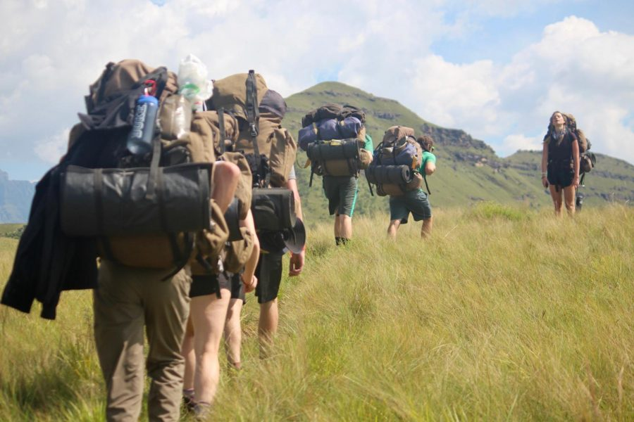 Students+on+last+year%27s+ecology+trip+hike+in+Hluhluwe-Imfolozi+Park+South+Africa.+This+year%27s+trip+was+canceled+due+to+coronavirus+concerns.+