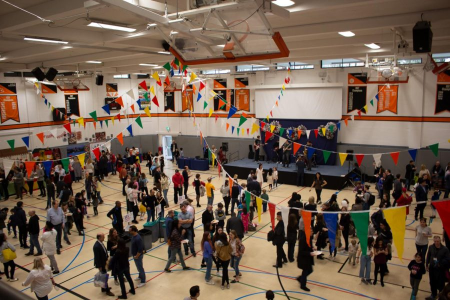 Students, parents, teachers and guests participate in the 2018 Global Festival. The biennial event was originally planned to occur again March 22, 2020, but was postponed to Oct. 4. The change was a result of concerns over the spread of the COVID-19 coronavirus.