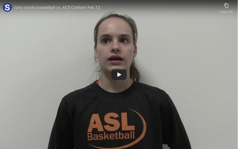 Video: girls varsity basketball vs. ACS Cobham