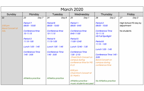 Administration announces schedule for Alternatives week