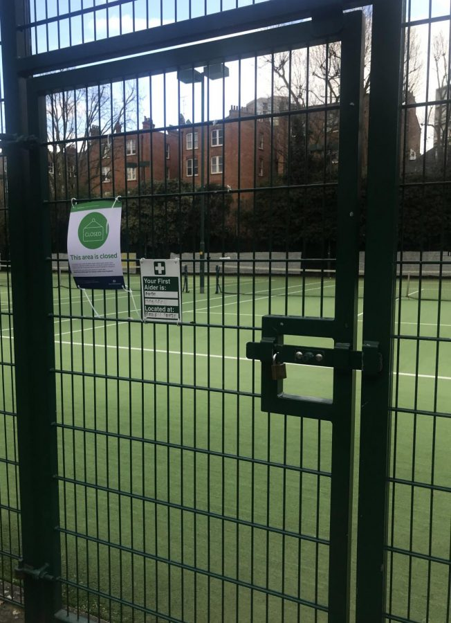 The Paddington Recreation Ground tennis courts are closed due to the coronavirus. Although Fellows doesn't train there usually, he checked to see if the courts were available during the lockdown.