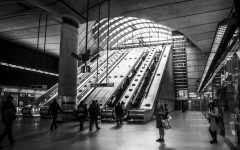 Photo of Canary Wharf tube station taken by AJ Laurienti ('21).