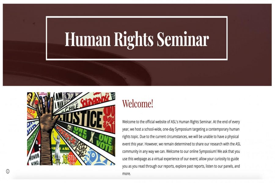 The Human Rights Seminar was forced to showcase their work online, rather than through student-led workshops at school.