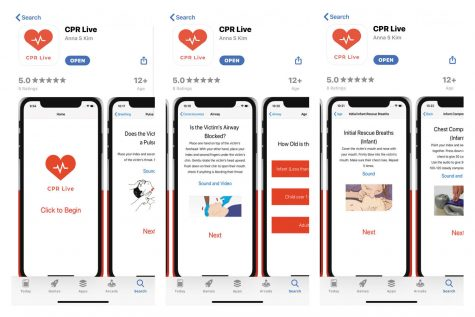 Anna Kim's ('21) app instructs users on how to perform CPR in real-time. Kim released her app to the Apple App Store Oct. 4.