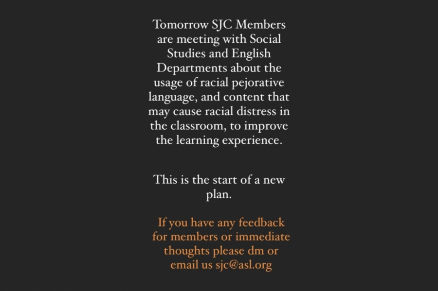 SJC members meet with social studies, English departments about use of racially sensitive texts