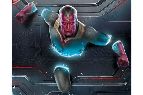 The Vision bursts through a wall as part of promo for his first appearance in Avengers: Age of Ultron. Movies later, his title role in the new show WandaVision has forced his character into the center stage.