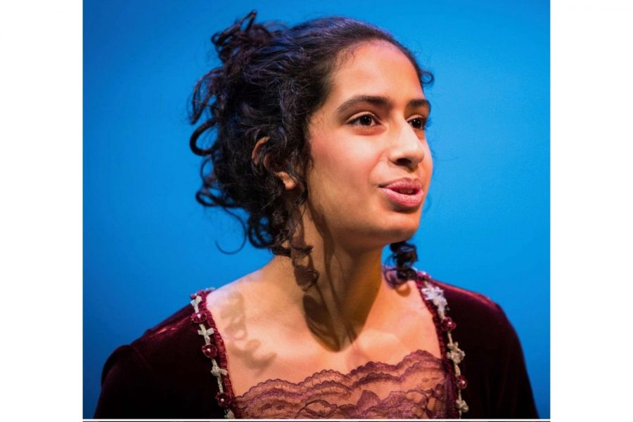 Sara Khan ('24) acts in a musical at her previous school. Acting and performing arts have always played a significant role in Khan's life.