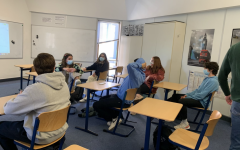 StuCo held their first in-person meeting this year, where they planned school events for the end of the year. Student organizations are now permitted to meet in person on campus as of April 19.