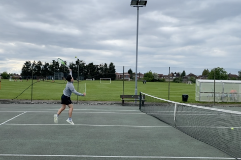 After a one-year hiatus from inter-school athletic games, the tennis team hosted a tournament against Cobham May 26.