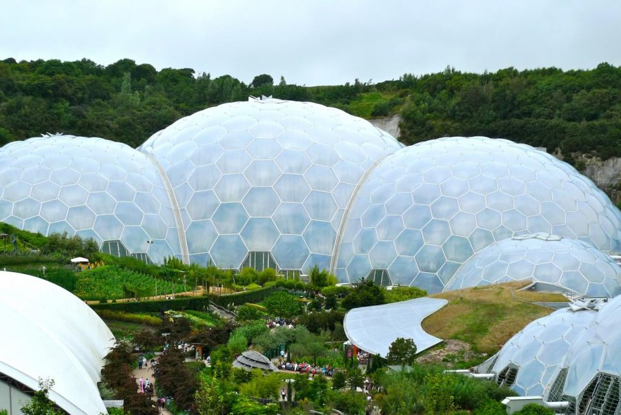 The Eden Project, located in Cornwall, nurtures plant life in biomes – large, environmentally-friendly domes. In 2001, the organization opened to the public with the objective of conserving nature and making it accessible to all.