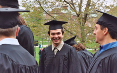 Grade 12 Dean and Social Studies Teacher Rodney Yeoh smiles during his commencement at Colby College in 2005. Yeoh said he entered Colby expecting to study medicine, but discovered a passion for religion and focused his studies on that subject instead. After graduating from Colby, Yeoh pursued his interest in religion in different ways, such as through attending divinity school, working for an organization that studies religious affairs in the U.S. and teaching a world religions class at a school in Boston.